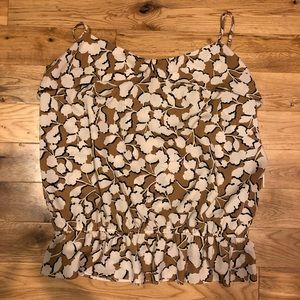 Gap Gingko Leaf Spaghetti Strap Tank Top